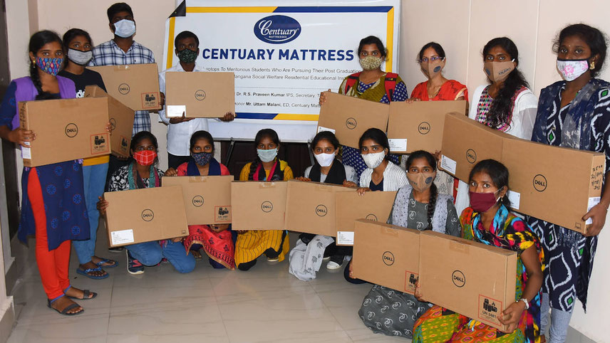 The Hyderabad-based foam and mattress maker gives laptops to under-graduate and post-graduate students